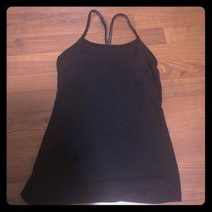 Lululemon black tank w/ built in bra